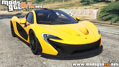 V - McLaren P1 2014 para GTA V PC