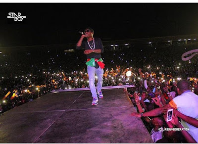 wizkid performs in mali
