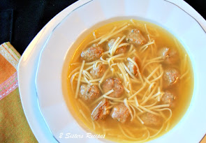 Chicken Noodle Soup with Mini Meatballs