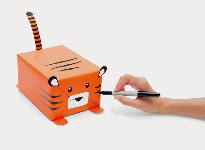 kit para envolver regalos con forma de animal
