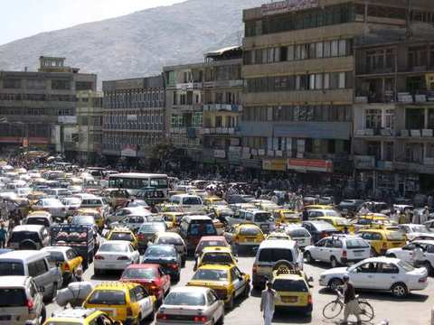 kabul afghanistan city. Kabul is a rush city. and it