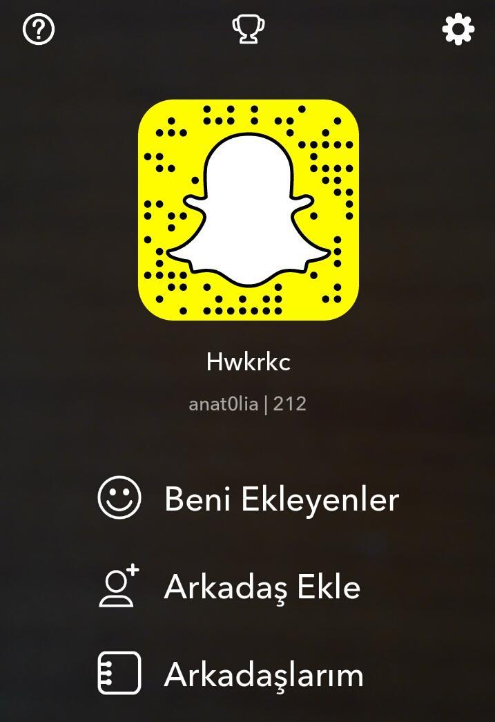 Snapchat adım @anat0lia