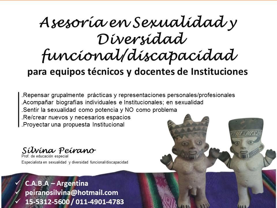 Asesoría en Sexualidad y Diversidad funcional/discapacidad para equipos técnicos y docentes de Inst