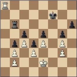 Partida de ajedrez Rico - Prins, posición después de 36...fxe5