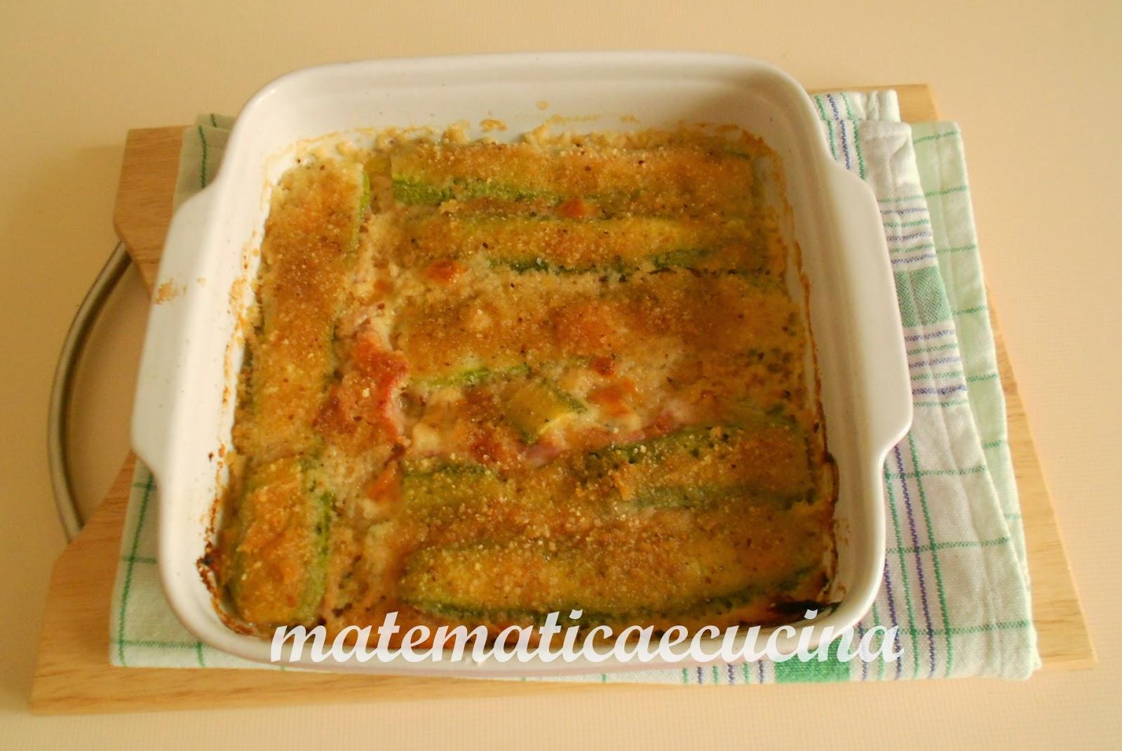torta di zucchine con prosciutto cotto e mozzarella