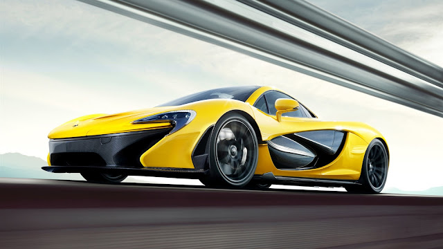2013 McLaren P1 yellow supercar 1080 MCLaren P1 Supercar
