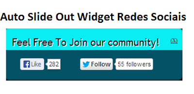 Auto Slide Out Widget Redes Sociais Para Blogger