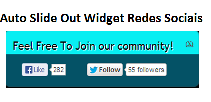 Auto Slide Out Widget Redes Sociais Para Blogger