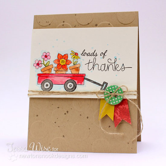 Loads of thanks card by Tessa Wise for Newton's Nook Designs | Wagon of Wishes Stamp set