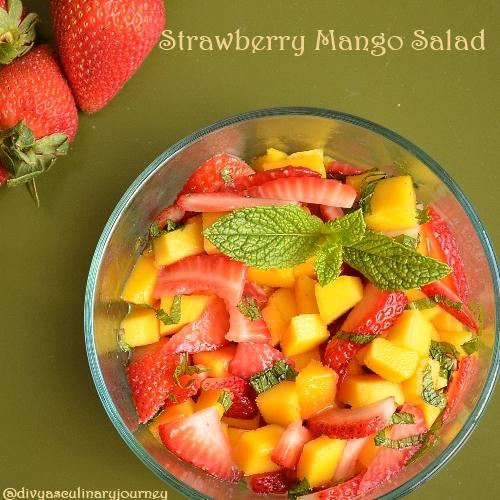 Divya's culinary journey: Strawberry Mango Salad