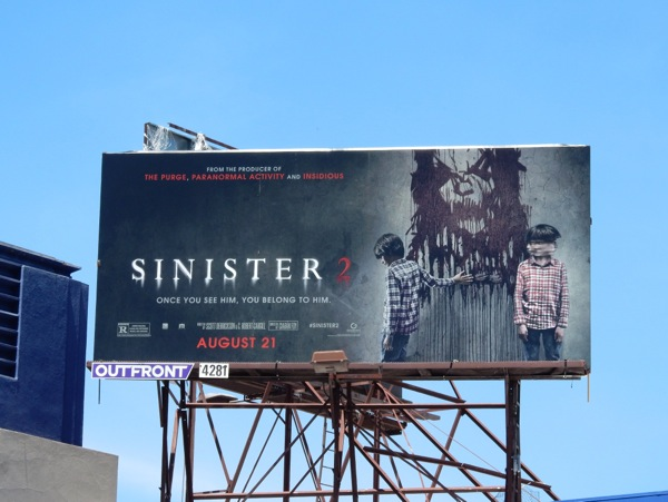Sinister 2 movie billboard