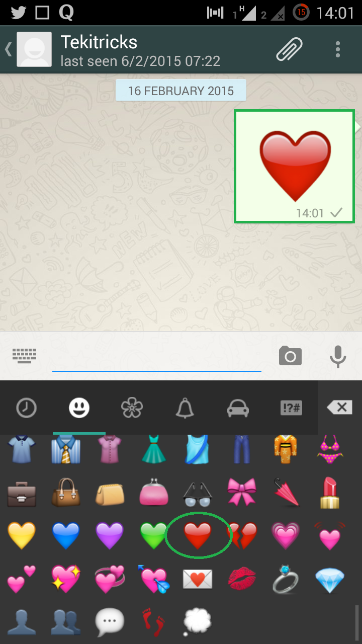 First animated symbol in whatsapp whatsapp trick tekitricks note this animated symbol will work only for single instance that means you have to press the symbol once and enter wont work for multiple times in biocorpaavc