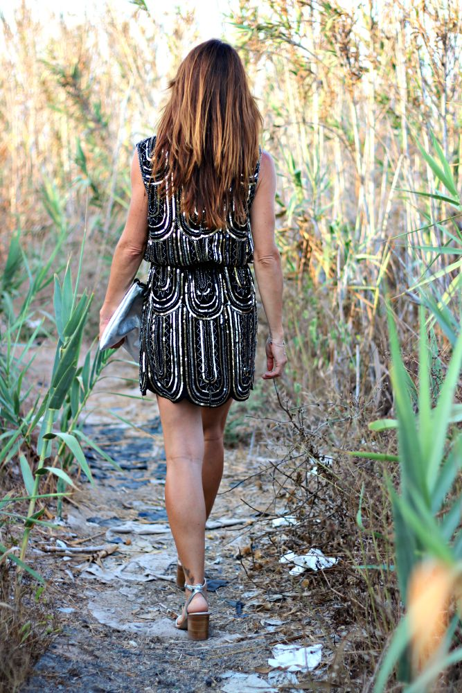 Vestido lentejuelas - Sheinside - Compras online - Streetstyle - Atardecer
