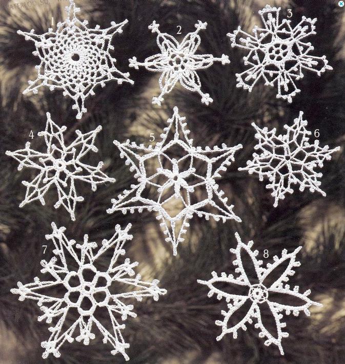 perfecta!: lectura de patrones de crochet: especial copos de nieve!
