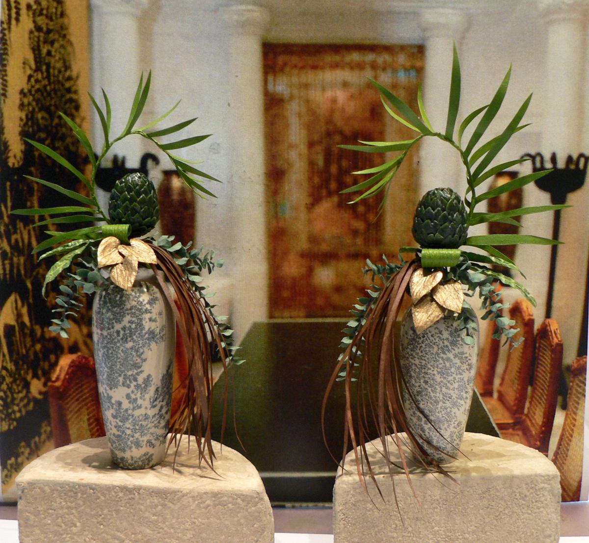 Garden of miniatures art deco for Art deco flowers
