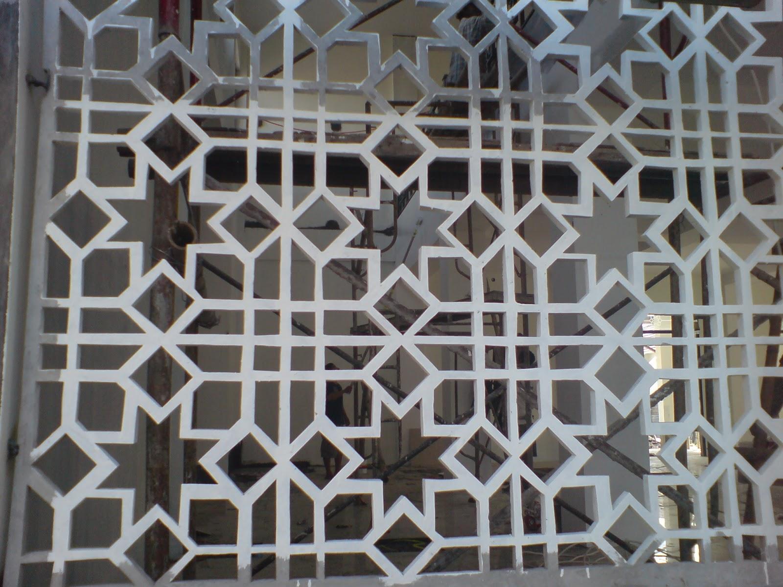 desain keramik dinding masjid