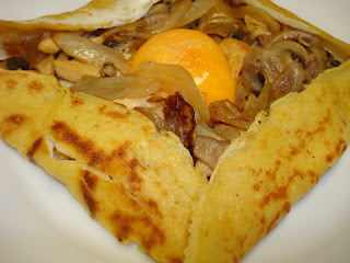 crepe salado curry pollo huevo