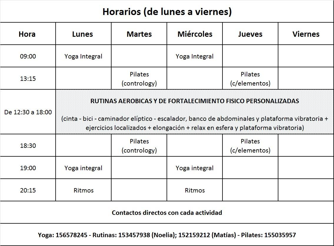 Area fit gimnasio rosario nuevo horario gimnasio for Horario gimnasio