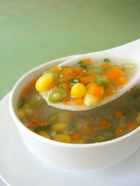 SWEET CORN VEGETABLE SOUP ~ INDIAN, NON INDIAN RECIPE COLLECTION