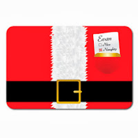 Psychobaby Check It Twice Santa Placemat