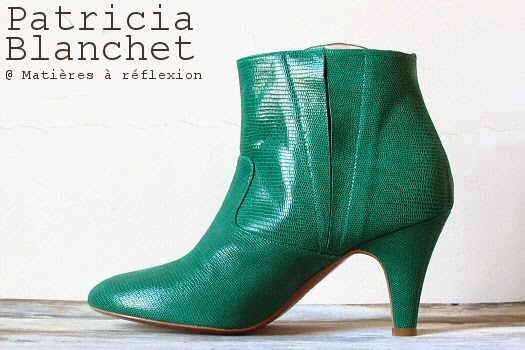 Boots vertes Reno cuir bottines Patricia Blanchet chaussures