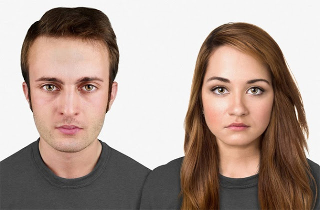Năm 20.000 sau Công nguyên, con người có một cái đầu to hơn và trán rộng hơn. Mắt người có thêm một vòng màu vàng, đó là đại diện cho một thiết bị thông minh nào đó, như Google Glass chẳng hạn. Nhưng trong tương lai, chúng không còn là mắt kính nữa, mà là Kính áp tròng thông minh. Tóc dầy hơn vì vai trò của nó rất quan trọng trong việc bảo vệ đầu khỏi sự mất nhiệt.