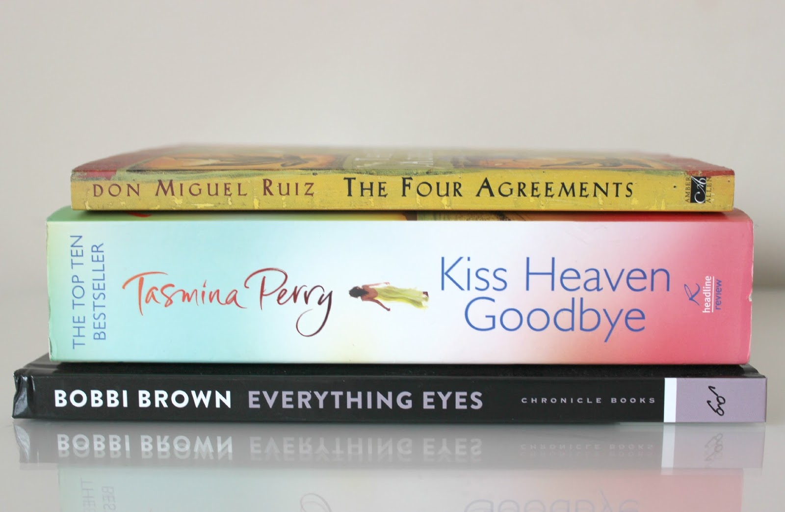 A picture of books I am currently reading