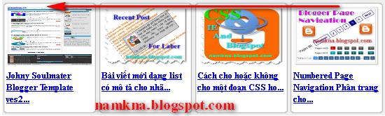 Bài viết mới trượt ngang từ JQuery cho blogspot style 3