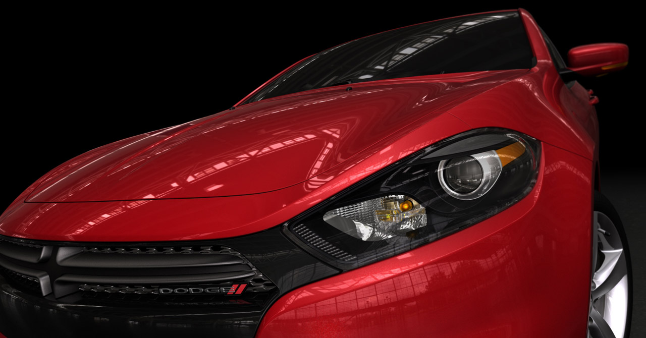 Updated dodge teases dart compact car