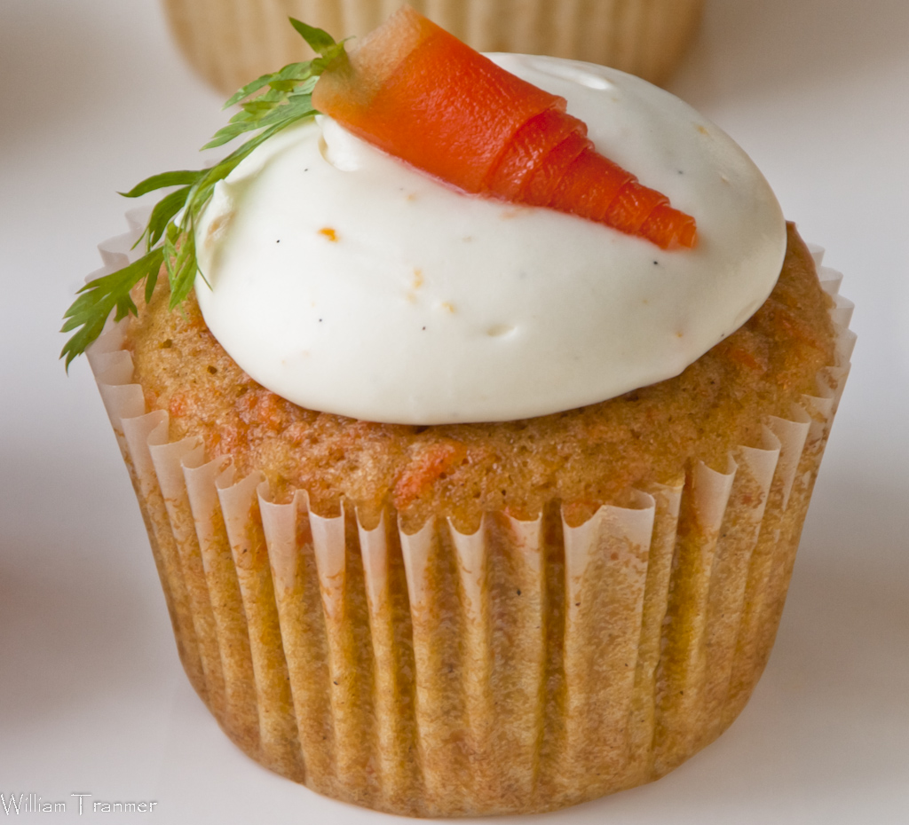 Cardamom-scented Carrot Cupcake with Citrus Cream Cheese Frosting