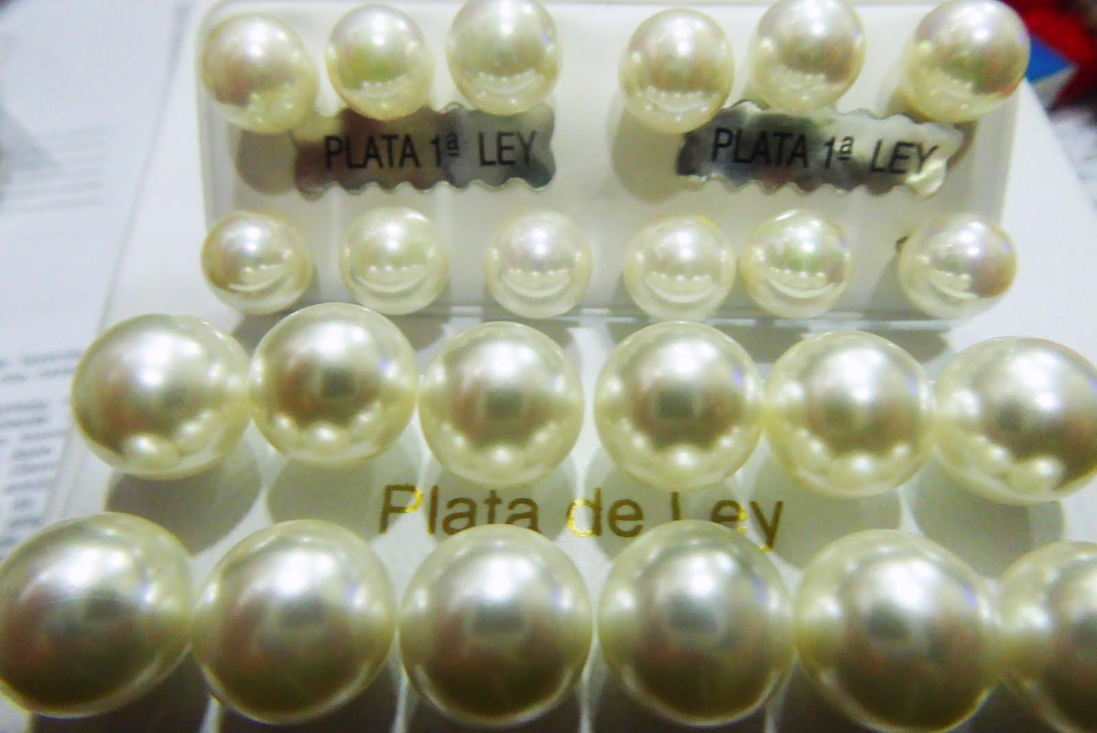 Pendientes de perla, plata