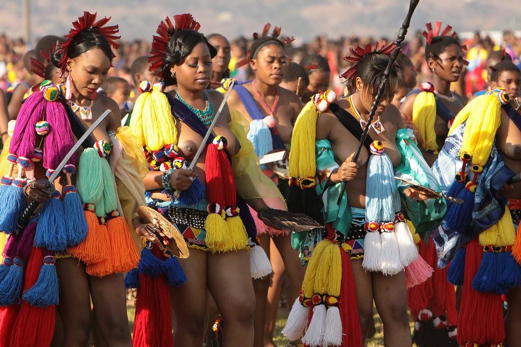 Zulu Reed Dance - In Swaziland