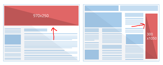 New ad sizes for Google AdSense
