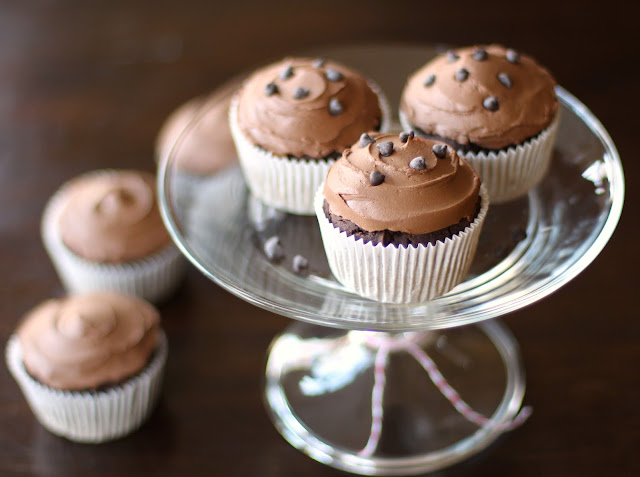 Bittersweet Chocolate Quinoa Cupcakes with Chocolate Frosting