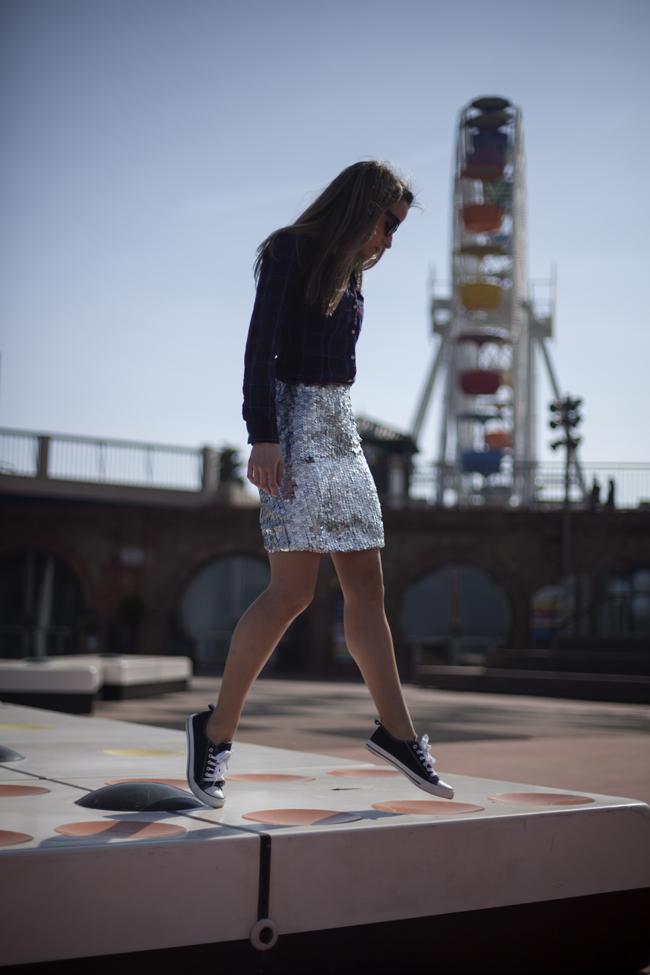 Dare to diy look personal sequins sneakers - Sylvia dare to diy ...