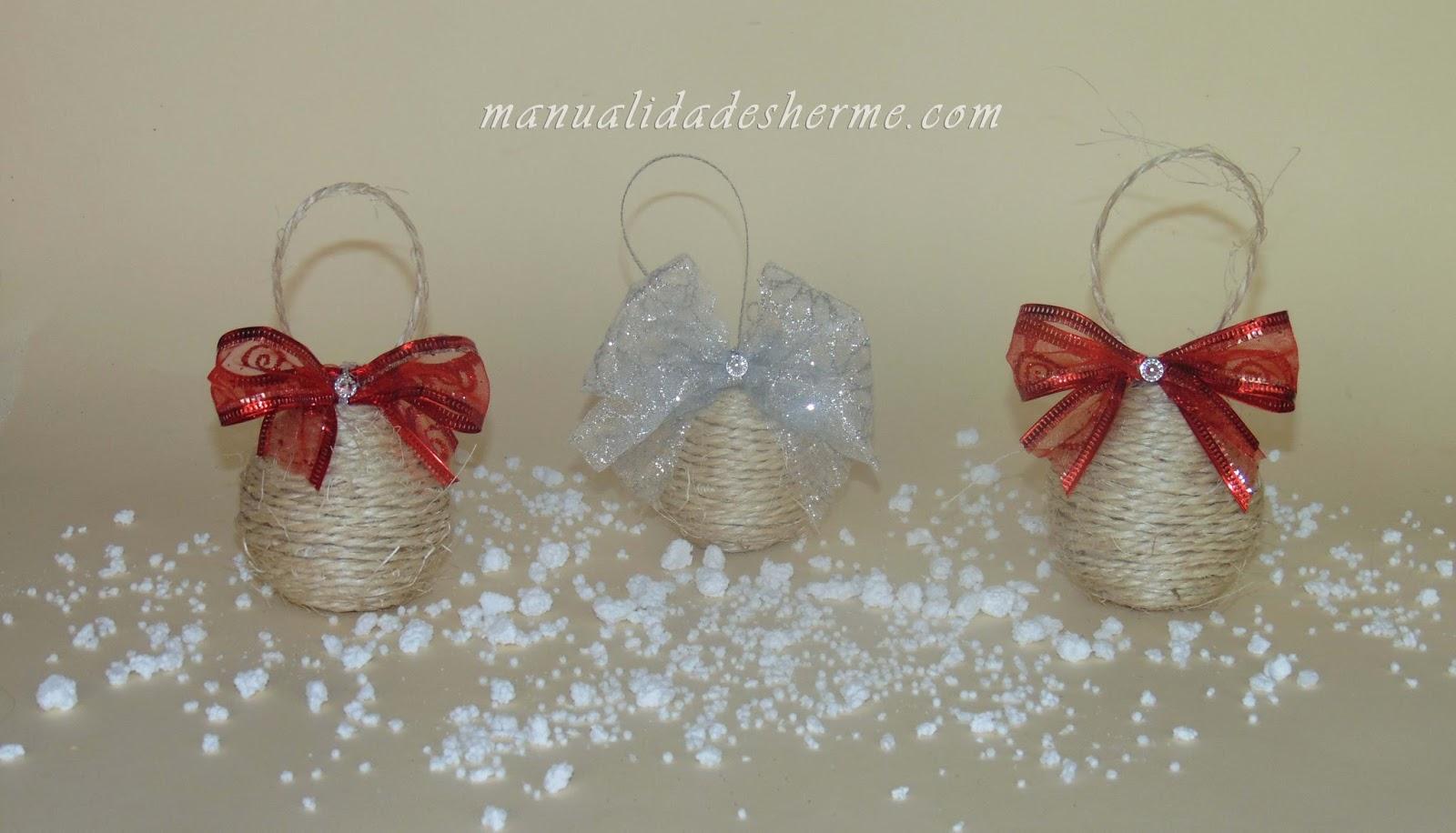 Manualidades herme bolas recicladas para el rbol de navidad - Manualidades con bolas de navidad ...