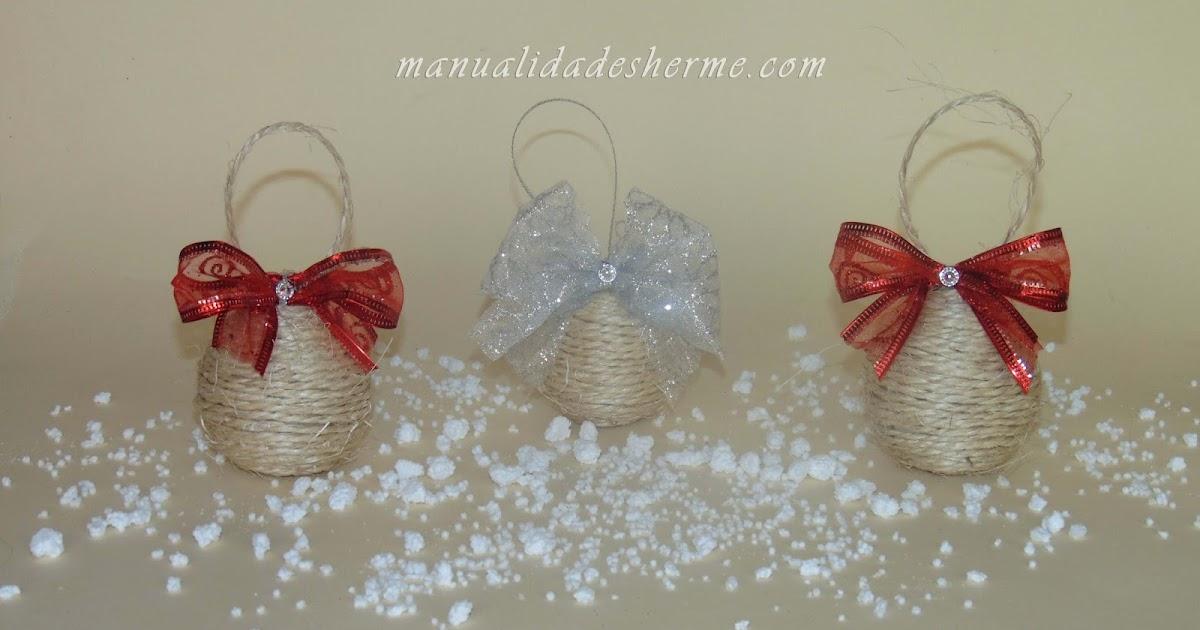 Manualidades herme bolas recicladas para el rbol de navidad for Bolas de navidad recicladas