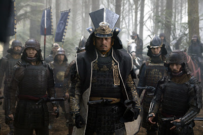 Ken Watanabe as Samurai leader Katsumoto, wearning armour, The Last Samuraii, directed by Edward Zwick