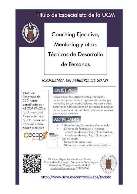 Nuevo Curso Coaching UCM (Madrid) con Jorge Salinas