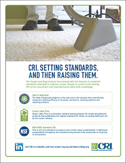 CRI. Setting carpet standards, and then raising them.