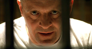 "Hannibal ""The Cannibal"" Lecter, anthony hopkins, steely gaze, behind the bars"
