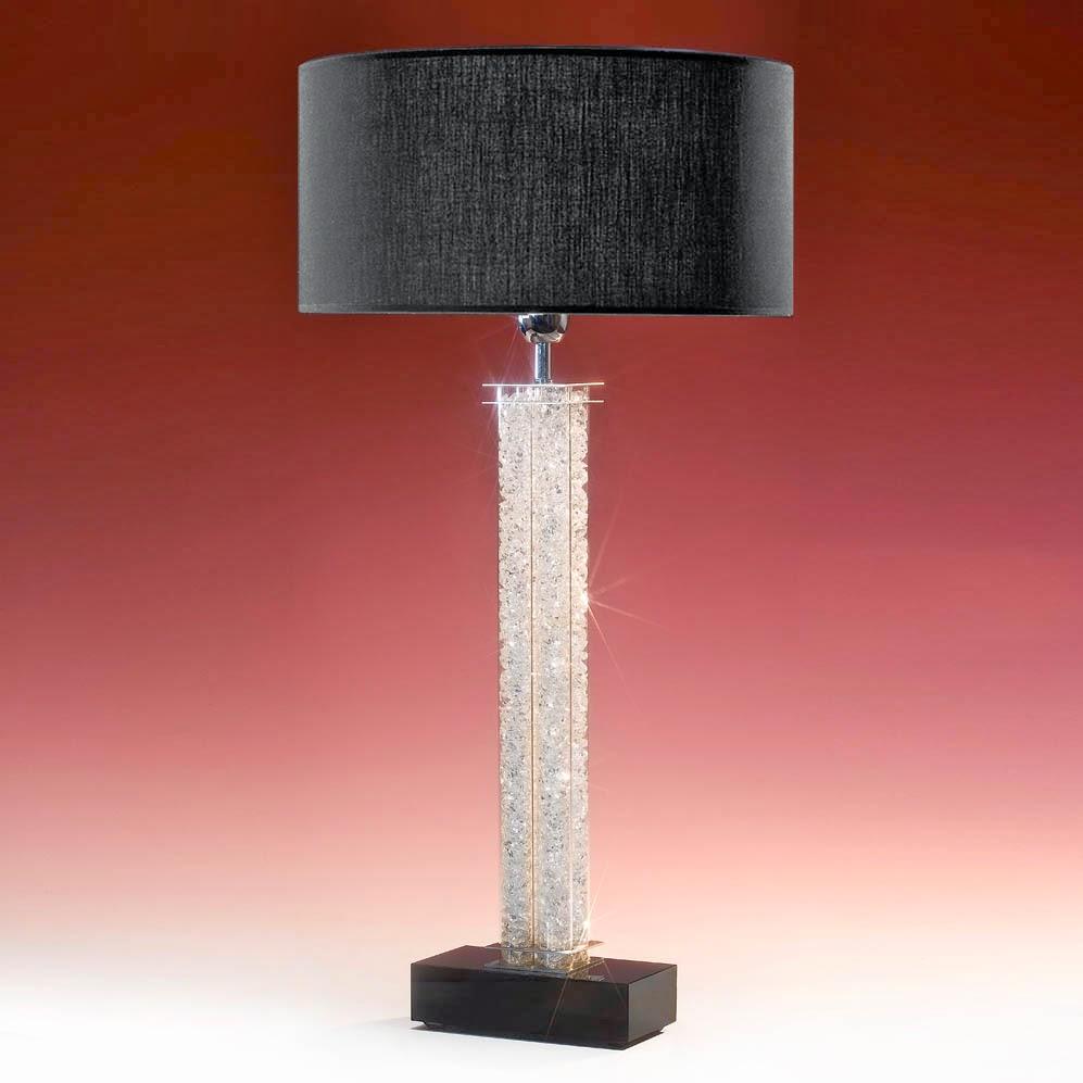 tischleuchten aus glas und kristall tischleuchte aus glas mit kristallen gef llt 4 bars filled. Black Bedroom Furniture Sets. Home Design Ideas