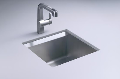 Kohler K-3671-NA 8 Degree Single-Basin Entertainment Sink With Bottom Basin Rack & Wine Rack