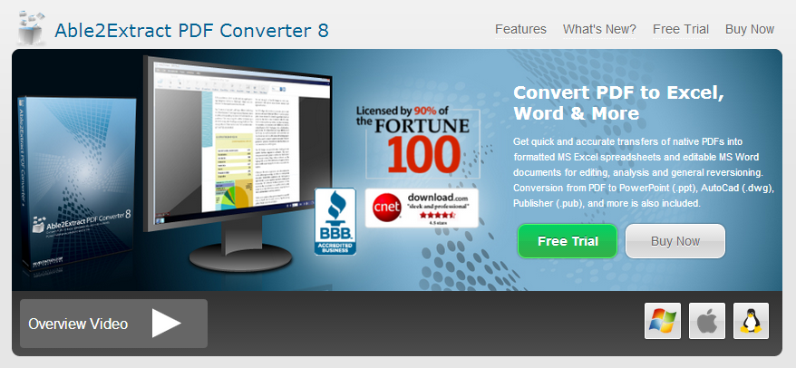 Able2Extract PDF Converter 8 Review
