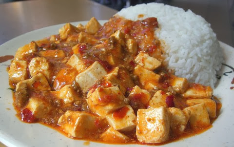 Szechuan Sauce Tofu with Boiled Rice