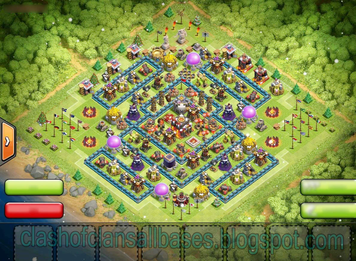 Clash of clans th10 trophy base clash of clans all bases