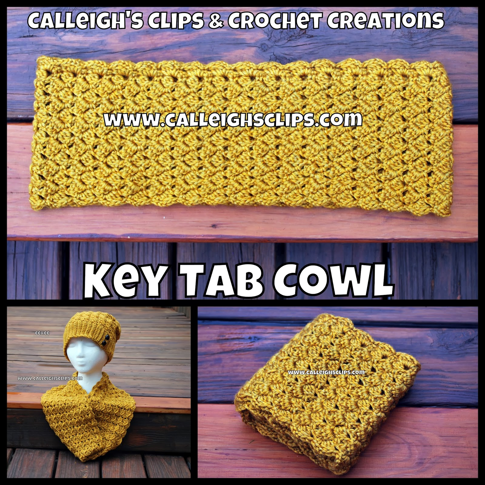 Crochet Patterns Key : ... Clips & Crochet Creations: Free Crochet Pattern - Key Tab Cowl