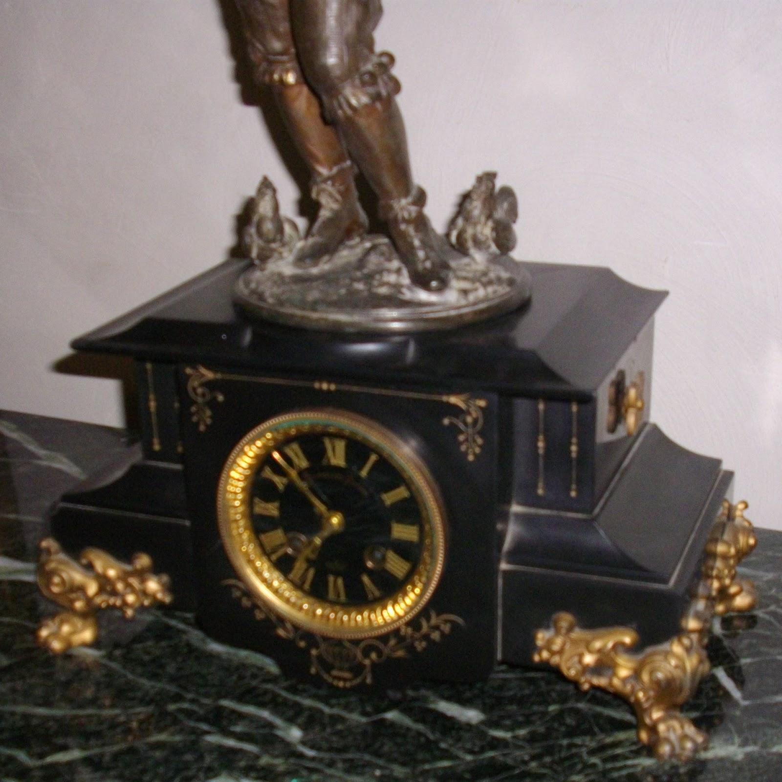 ancienne pendule napol on iii marbre noir d ssinateur i. Black Bedroom Furniture Sets. Home Design Ideas