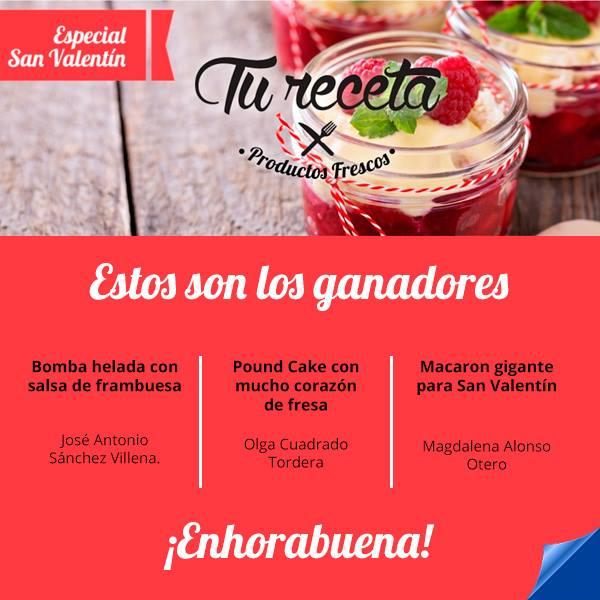 """GANADORA DEL CONCURSO """"Especial San Valentín"""" ORGANIZADO POR HIPERCOR"""