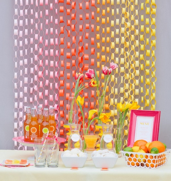 Cheap party decoration ideas dream house experience for Baby shower wall decoration ideas